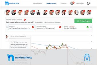 Den Handel mit Aktien auf nextmarkets lernen